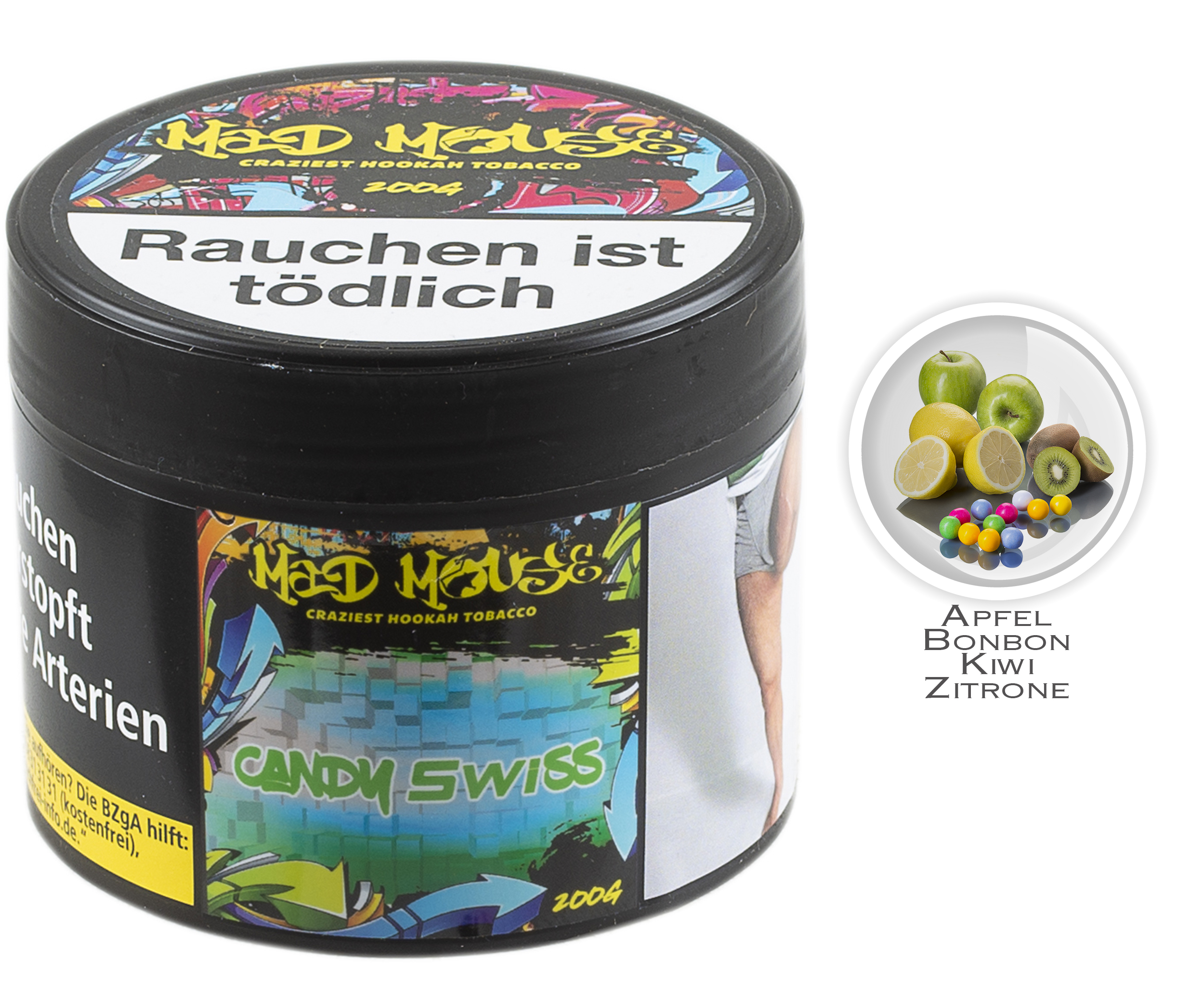 Mad Mouse Tobacco - Candy Swiss - 200g