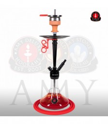 AMY Alu Deluxe S 066.02 - black chrome red