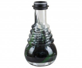 Glasbowl Glorious Klick - green / black powder