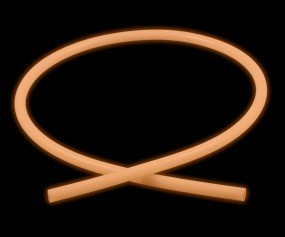Silikonschlauch Glow (150 cm - orange)