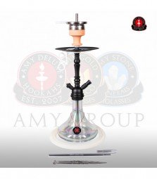 Amy Middle Globe Rainbow - clear - RS black powder