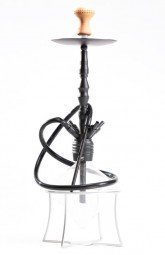 Animal Hookah Diamond Rhino Lite Black