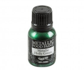 Rainbow Dust Metallic Paint - Holly Green